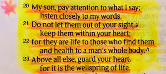 Image result for proverbs 4:20-23